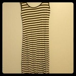 Striped sleeveless maxi dress